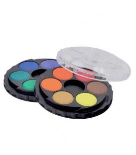 Barvy vodové 12 odstínů kulaté 171503