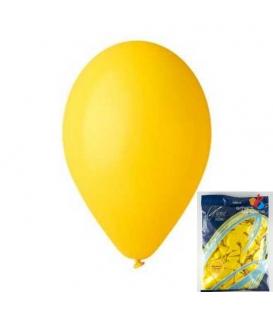 Balónek nafukovací kulatý žlutý/ 100ks