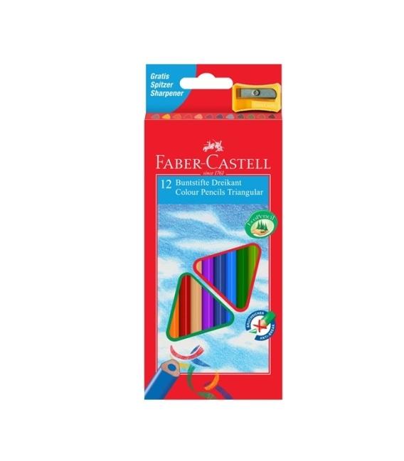 Pastelky FABER Eco trojhranné 12 barev