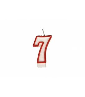 """Svíčka dortová – číslo """"7"""""""