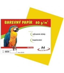 Papír náčrtkový A4 80g žlutý