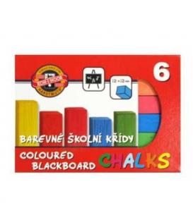 Křída školní barevná 6ks