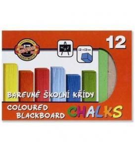 Křída školní barevná 12ks