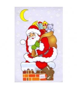 Sáček vánoční Mikuláš na komíně 20x35 cm