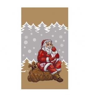 Sáček vánoční mikulášský Zlatý 20x37 cm