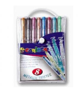 Voskovky 8 barev vysouvací Twister Metallic