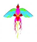 Drak textilní Phoenix 130x160cm