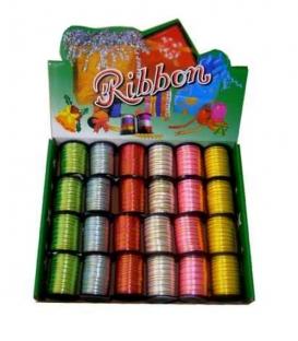 Stuha dekorační 0,5x10 zlacená Ribbon /RB1105/