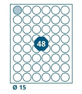 Etikety samolepící průměr 15mm