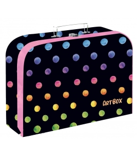 Kufřík dětský na malířské potřeby 34cm Dots color