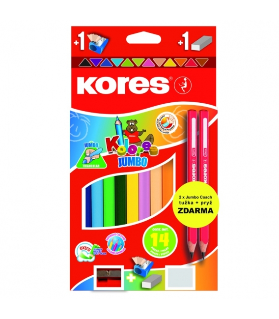 Pastelky Kores trojhranné jumbo 12ks speciální edice