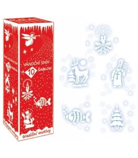 Sníh bílý 150 ml s 8 šablonami