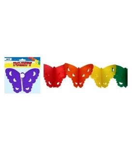 Girlanda papírová Motýl 4m 18x15cm