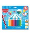 Pastelky MAPED MAXI 24 barev