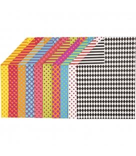 Karton kreativní A4 250g/20 archů - vzorovaný oboustranný