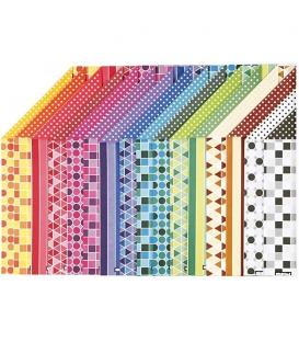 Karton kreativní A4 250g/16 archů - vzorovaný oboustranný /26320/