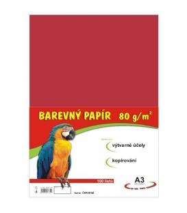 Papír náčrtkový A3 80g červený