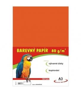 Papír náčrtkový A3 80g oranžový
