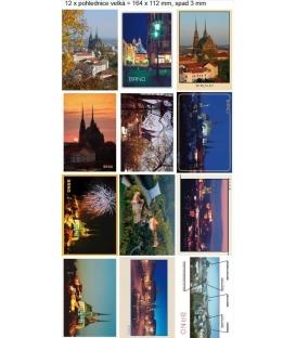 Pohlednice Brno větší a historické mix motivů