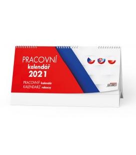 Kalendář stolní Pracovní (CZ, SK, PL) 2021
