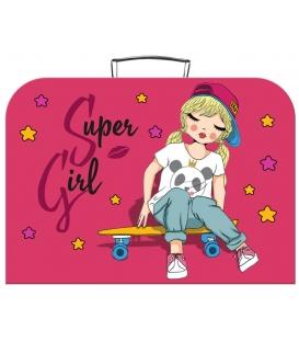 Kufřík dětský na malířské potřeby 35cm Super girl