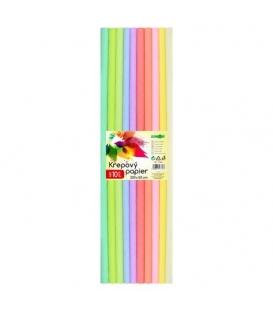 Papír krepový Pastel 10 barev