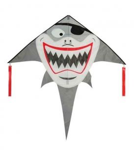 Drak textilní Žralok 133x136cm