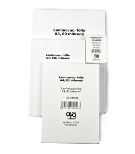 Fólie laminovací A3/303x426/80mic. 100 ks Standard.