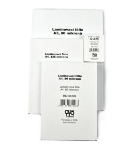 Fólie laminovací A4/216x303/125mic. 100ks Standard