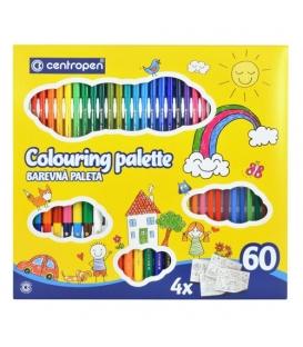Set Centropen Colouring Palette Quatro 9396 – 60 kusů