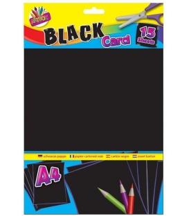 Karton kreslící A4 250g černý 15ks