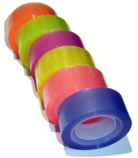 Páska lepící 18mmx20m transparentní barevná/6ks