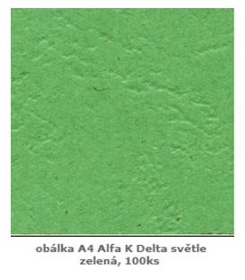 Desky zadní A4 Alfa/ delta/ ZELENÉ SVĚTLÉ