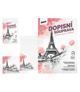 Papír dopisní barevný LUX 5+10 Paříž