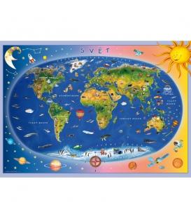 Mapa světa dětská 120x85cm