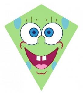Drak textilní Obličej zelený 70x60cm