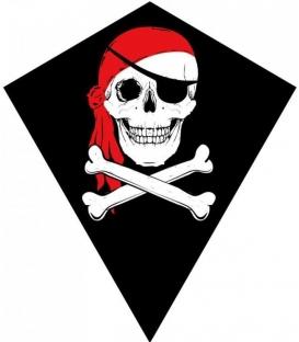 Drak textilní Pirát 70x60cm