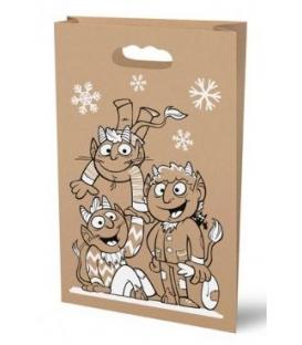 Taška vánoční Mikuláš průhmat 26x41 KRAFT