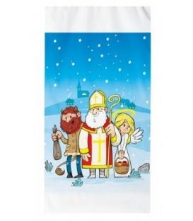 Sáček vánoční Mikuláš PP 20x39cm