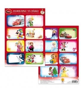 Jmenovky k dárkům samolepící Disney 16ks v balíčku