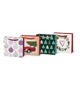 Taška dárková vánoční T0 mix V2 90 x 90 x 40 mm