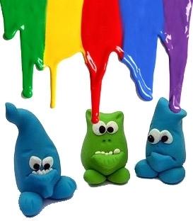 Barvy a modelovací hmoty