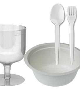 Jednorázové nádobí, ubrousky