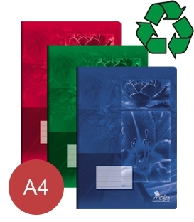 Sešity z recyklovaného papíru A4
